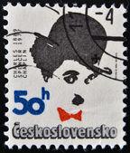 CZECHOSLOVAKIA - CIRCA 1989: Stamp printed in Czechoslovakia shows actor Charles Chaplin, circa 1989 — Stock Photo