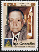 CUBA - CIRCA 2004: A stamp printed in Cuba shows Alejo Carpentier, circa 2004 — Stock Photo