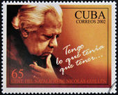 CUBA - CIRCA 2002: A stamp printed in Cuba shows Nicolas Guillen, I have what I had to have, circa 2002 — Zdjęcie stockowe