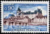 FRANCE - CIRCA 1973: A stamp printed in France shows Chateau de Gien, circa 1973 — Stock Photo