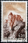 FRANCE - CIRCA 1965: A stamp printed in France shows the Fort de Joux, circa 1965 — Stok fotoğraf