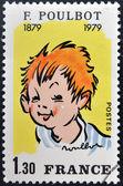 франция - около 1979: штамп напечатан во франции, посвященная франциски poulbot, около 1979 — Стоковое фото