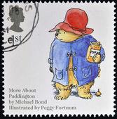 UNITED KINGDOM - CIRCA 2006: A stamp printed in Great Britain dedicated to animal tales, shows Michael Bond's 'Paddington Bear', circa 2006 — Stock Photo