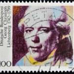 Постер, плакат: GERMANY CIRCA 1992: A stamp printed in Germany shows Georg Christoph Lichtenberg circa 1992