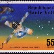 UPPER VOLTA - CIRCA 1976: A stamp printed in Upper Volta dedicated to Operation Viking Sur Mars, circa 1975. — Stock Photo #24401339