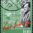 Royalty-Free Stock Photo: GERMANY - CIRCA 1997: A stamp printed in Germany shows Sepp Herberger- German football player and manager, circa 1997