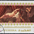 FUJEIR- CIRC1985: Stamp printed in Fujeirshows Joseph and Potiphar's wife by Tintoretto, circ1985 — Stock Photo #24401803