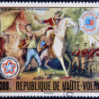 BURKINA FASO - CIRCA 1976: stamp printed in Burkina Faso shows Peter Francisco bravery, circa 1976 — Stock Photo