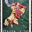 ITALY-CIRCA 1972: stamp printed in Italy shows Angel, Gloria in excelsis deo, circa 1972 - Stock Photo