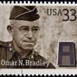UNITED STATES OF AMERICA - CIRCA 2000: Stamps printed in USA dedicated to Military or Armed Forces shows Omar Nelson Bradley, circa 2000 - Stock Photo