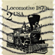 UNITED STATES OF AMERICA - CIRCA 1981: stamp printed in USA shows locomotive, circa 1981 — Stock Photo