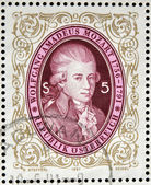 AUSTRIA - CIRCA 1991: stamp printed in Austria shows Wolfgang Amadeus Mozart, circa 1991 — Stock Photo