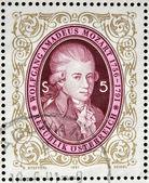 AUSTRIA - CIRCA 1991: stamp printed in Austria shows Wolfgang Amadeus Mozart, circa 1991 — Stock Photo