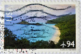 UNITED STATES OF AMERICA - CIRCA 2008:A stamp printed in USA shows image of The Virgin Islands are the western island group of the Leeward Islands, circa 2008. — Stock Photo