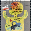 AUSTRALIA - CIRCA 1990: a stamp printed in Australia shows Don't mix Drink and Drive, Community Health, circa 1990 - Stock Photo