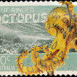 AUSTRALIA - CIRCA 2006: Stamp printed in Australia shows Blue-ringed octopus, circa 2006 — Stockfoto