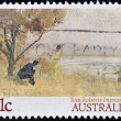 "AUSTRALI- CIRC1989: stamp printed in Australishows draw by Tom Roberts ""Impression Mentone"", circ1989 — Stock Photo #25206329"