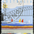 AUSTRALIA - CIRCA 1992: a stamp printed in Australia shows Sydney Harbor Bridge and Tunnel, circa 1992. — Stock Photo