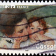 Stock Photo: FRANCE - CIRC2006: stamp printed in France shows image of Mother and Child by Mary Cassatt, Americartist, circ2006