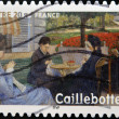Постер, плакат: FRANCE CIRCA 2006: A stamp printed in France shows Portrait in the country by Gustave Caillebotte circa 2006