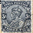 INDIA - CIRCA 1934: A stamp printed in India shows King George V, circa 1934 — Stock Photo