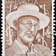 SWITZERLAND - CIRCA 1978: stamp printed in Switzerland shows Hermann Hesse, circa 1978 - Stock Photo
