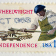 USA - CIRCA 1977 : A stamp printed in USA shows the Wheelwright for independence, circa 1977  — Stock Photo