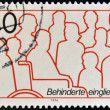 GERMANY - CIRCA 1974: A stamp printed in Germany dedicated to integration of disabled, circa 1974  — Stock Photo