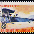 EQUATORIAL GUINE- CIRC1974: stamp printed in Guinededicated to history of aviation shows Aviatik-Berg C.1, 1916, circ1974 — Stock Photo #25207017