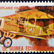 EQUATORIAL GUINEA - CIRCA 1974: A stamp printed in Guinea dedicated to history of aviation shows Rickenbacker's aircraft,1918,  circa 1974 — Stock Photo