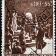 ITALY - CIRCA 1967: Stamp printed in Italy shows Pontida oath of Giovanni Berchet, circa 1967 — Lizenzfreies Foto