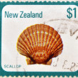 NEW ZEALAND - CIRCA 1979: a stamp printed in New Zealand  shows image of a scallop (pecten novaezelandiae), circa 1979 - Stock Photo