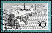 GERMANY - CIRCA 1977: A stamp printed in Germany shows Helgoland, circa 1977 — Photo