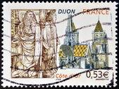 FRANCE - CIRCA 2006: A stamp printed in France dedicated to Dijon, circa 2006 — Foto de Stock