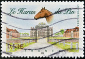 FRANCE - CIRCA 2005: A stamp printed in France dedicated to Le Pin au Haras, circa 2005 — Stock Photo