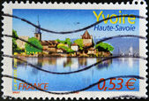 FRANCE - CIRCA 2006: A stamp printed in France shows Yvoire, circa 2006 — Stock Photo