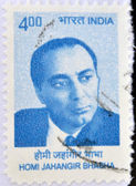 INDIA - CIRCA 2009: A stamp printed in India shows Homi Bhabha, circa 2009 — Stock Photo