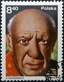 POLAND - CIRCA 1981: A stamp printed in Poland shows Pablo Picasso (1881-1973), artist, circa 1981 — Stock Photo