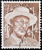 SWITZERLAND - CIRCA 1978: stamp printed in Switzerland shows Hermann Hesse, circa 1978 — Stock Photo