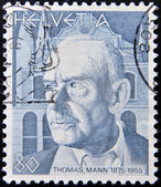 SWITZERLAND - CIRCA 1978: stamp printed in Switzerland, shows Thomas Mann, circa 1978 — Stock Photo