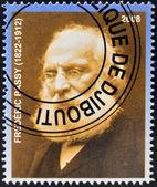 DJIBOUTI - CIRCA 2008: stamp printed in Djibouti dedicated to Nobel Peace prizes French shows Frederic Passy, circa 2008 — Stock Photo