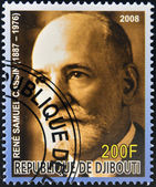 DJIBOUTI - CIRCA 2008: stamp printed in Djibouti dedicated to Nobel Peace prizes French shows Rene Samuel Cassin, circa 2008 — Stock Photo