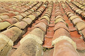 Famous tiled roof in Spain — Stock Photo