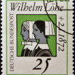 GERMANY - CIRC1972: stamp printed in Germany dedicated to Wilhelm Lohe, founder of Deaconesses Training Institute at Neuendettelsau shown Deaconesses, circ1972 — Stock Photo #25483317