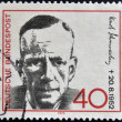Stock Photo: GERMANY - CIRC1972: stamp printed in Germany shows Kurt Schumacher, Politician, circ1972