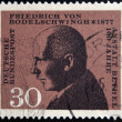 Stock Photo: GERMANY - CIRC1967: stamp printed in Germany shows Friedrich von Bodelschwingh, Manager of Bethel Institution for Incurable, circ1967