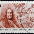 GERMANY - CIRCA 1996: A stamp printed in Germany shows Gottfried Wilhelm Leibniz, philosopher and mathematician, circa 1996 — Stock Photo