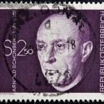 AUSTRIA - CIRCA 1974: A stamp printed in Austria shows Arnold Schonberg, composer, circa 1974 — Stock Photo #25483861