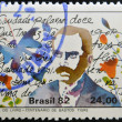BRAZIL - CIRCA 1982: A stamp printed in Brazil dedicated to Book Day, shows Bastos Tigre, circa 1982 — Stock Photo
