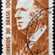 BRAZIL - CIRC1964: stamp printed in Brazil shows Charles de Gaulle, President of France, circ1964 — Stock Photo #25484013